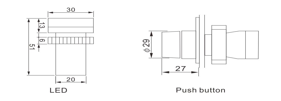 SGB2 Series Push Button & LED Indicators