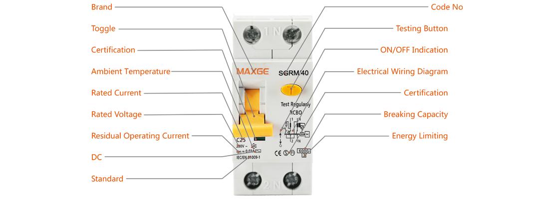 SGRM Series Residual Operated Current Ciruit Breaker