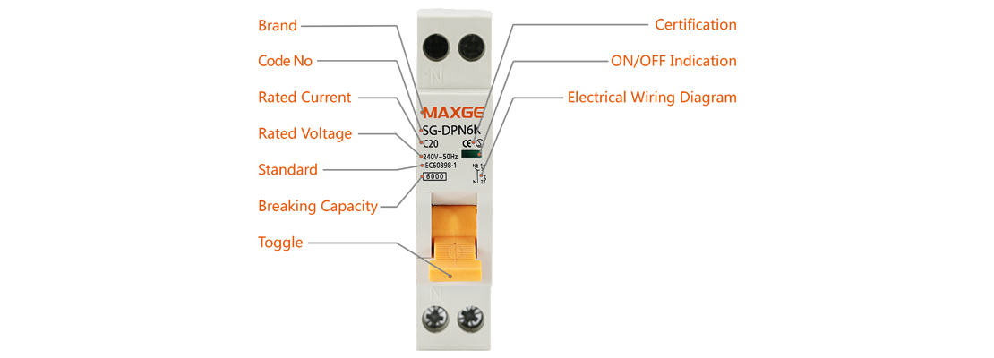 "SG-DPN Series""Phase+Neutral"" Circuit Breaker"